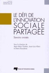 Le défi de l?innovation sociale partagée