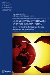 Le développement durable en droit international