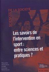 Les savoirs de l'intervention en sport : entre sciences et pratiques