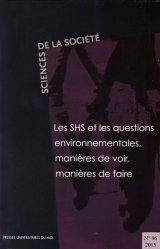 Les SHS et les questions environnementales, manières de voir, manières de faire