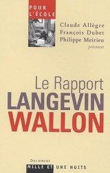 Le rapport Langevin-Wallon