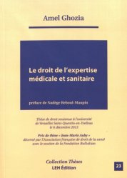 Le droit de l'expertise médicale et sanitaire