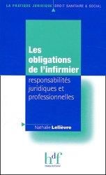 Les obligations de l'infirmier responsabilités juridiques et professionnelles