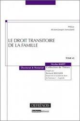Le droit transitoire de la famille