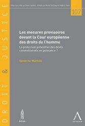 Les mesures provisoires devant la Cour européenne des droits de l'homme : la protection préventive des droits conventionnels en puissance