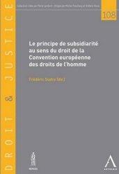 Le principe de subsidiarité au sens de la Convention européenne des droits de l'homme