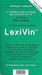 Lexivin français-anglais 2012