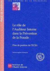 Le rôle de l'auditeur interne dans la prévention de la fraude.