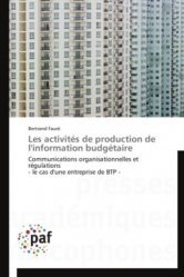 Les activités de production de l'information budgetaire