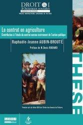 Le contrat en agriculture. Contribution à l'étude du contrat comme instrument de l'action publique
