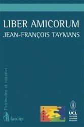 Liber amicorum Jean-François Taymans