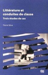Littérature et conduites de classe