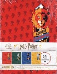 Lot de 4 cahiers Harry Potter 17x22cm