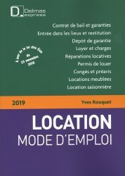 Location mode d'emploi. Edition 2019