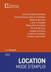 Location mode d'emploi. Edition 2020