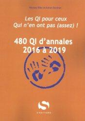 480 QI d'annales 2016 à 2019