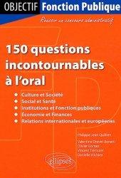 La couverture et les autres extraits de 150 questions incontournables à l'oral