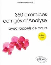 350 exercices corrigés d'analyse