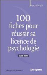 La couverture et les autres extraits de 100 fiches pour réussir sa licence de psychologie. Edition 2020-2021