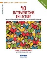 40 interventions en lecture