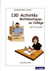130 activités mathématiques au collège (dont 1/3 niveau CM)