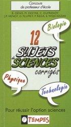 12 sujets de sciences corrigés