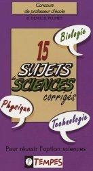 15 Sujets de sciences corrigés