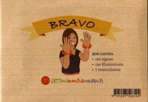 300 cartes bravo. 150 signes + 150 illustrations + 7 intercalaires + notice