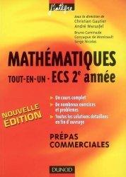 Mathématiques tout-en-un ECS 2ème année