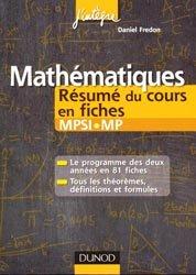Mathématiques, Résumé du cours en fiches MPSI - MP