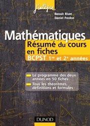 Mathématiques Résumé du cours en fiches BCPST 1re et 2e années