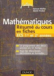 Mathématiques Résumé du cours en fiches  ECS 1re et 2e années
