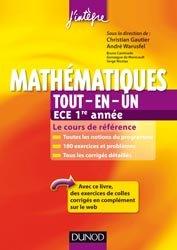La couverture et les autres extraits de Mathématiques tout-en-un ECS 1e année
