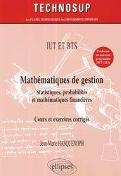 Mathématiques de gestion, statistiques, probabilités, mathématiques financières cours ex.co. niveau A