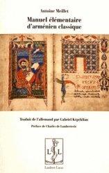 Manuel élémentaire d'arménien classique