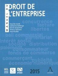 La couverture et les autres extraits de Manuel du droit de l'entreprise