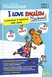 Mallette pédagogique I love English School Cycle 1 Cycle 2 Sing, Move, Play