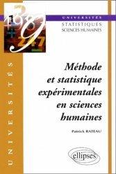 Méthode et statistique expérimentales en sciences humaines