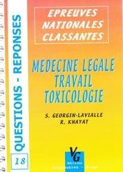 Médecine légale - Travail - Toxicologie