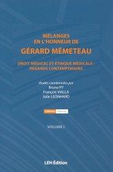Mélanges en l'honneur de Gérard Mémeteau