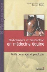 Médicaments et prescription en médecine équine