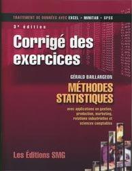 Méthodes statistiques avec applications en gestion, production, marketing, relations industrielles et sciences comptables