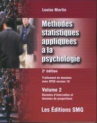Méthodes statistiques appliquées à la psychologie Traitement des données avec SPSS version 18