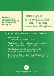 La couverture et les autres extraits de Mises à jour en gynécologie et obstétrique et techniques chirurgicales 2013