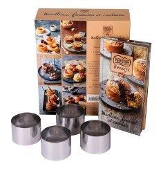 Moelleux, fondants et coulants Nestlé dessert. Avec 4 cercles à pâtisserie en métal
