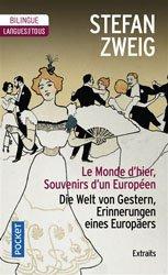 Le monde d'hier, Souvenirs d'un Européen (extraits)