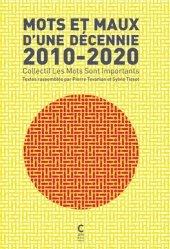 Mots et Maux d'un décennie 2010-2020