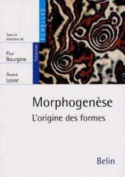 Morphogenèse L'origine des formes