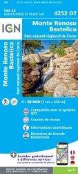 La couverture et les autres extraits de Petreto-Bicchisano Zicavo, Parc naturel régional de Corse. 1/ 25 000