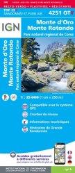 La couverture et les autres extraits de Corte, Monte Cinto, PNR de Corse. 1/25 000